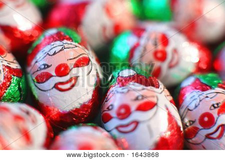 Santa Clause Candies In A Dish
