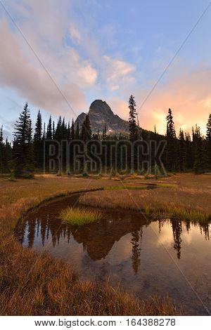 Liberty Bell and Kangaroo Ridge Sunset Okanogan National Forest Washington State
