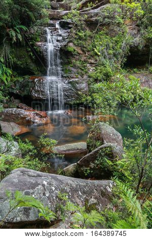 A waterfall in the Blue Mountains, NSW, Australia