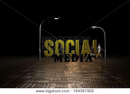 3D Render, Social Media, Web Development Technology, Design and Presentation