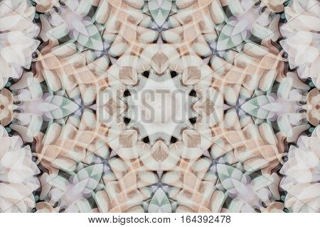 Kaleidoscope With Beautiful Ornamental Of Color