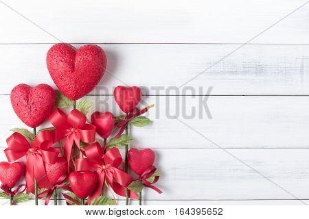 Flower In The Shape Of Heart Made From Foam Borad