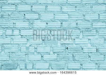 Black and white brick wall texture background / have flooring interior rock stone old pattern clean concrete grid uneven and bricks design stack.