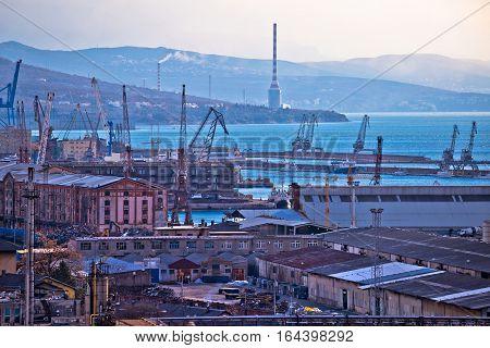 Industrial And Port City Of Rijeka