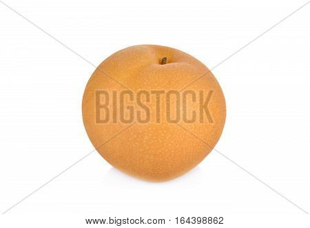 snow pear or Fengsui pear on white background
