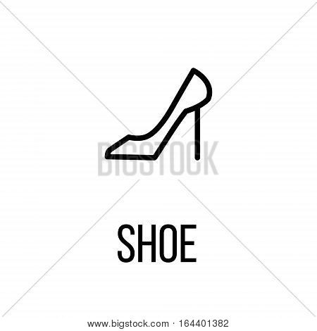 Shoe icon or logo in modern line style. High quality black outline pictogram for web site design and mobile apps. Vector illustration on a white background.