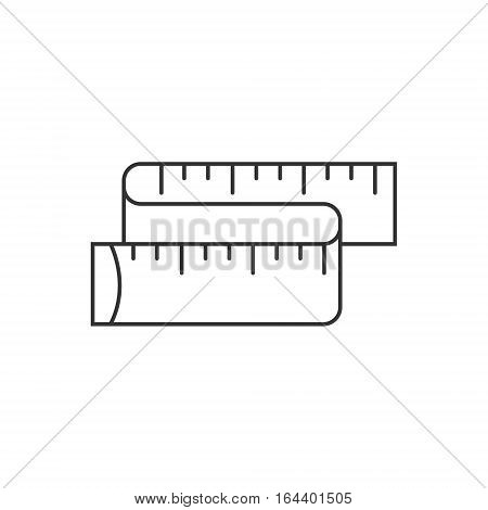 Measuring Tape icon or logo line art style. Vector Illustration.