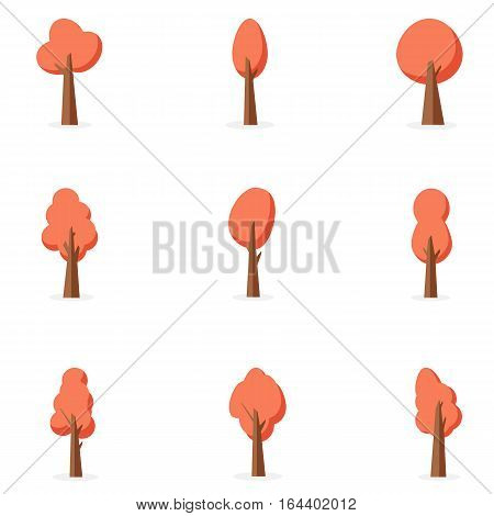 Orange tree set vector art collection stock