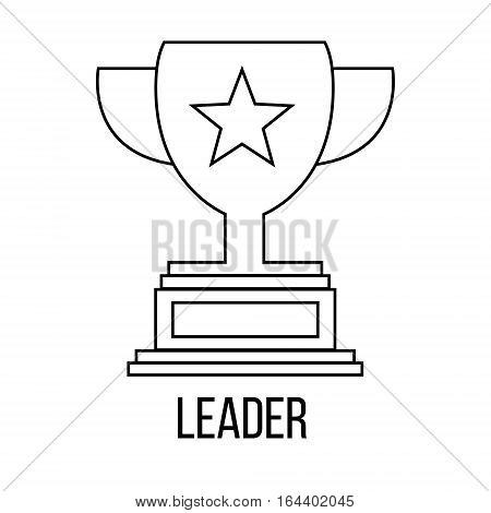 Leader icon or logo line art style. Vector Illustration.