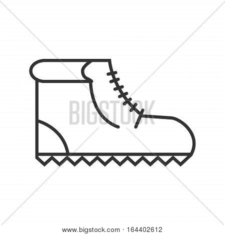 hiking boots icon or logo line art style. Vector Illustration.