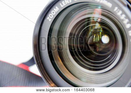 Reflex Camera On White Background