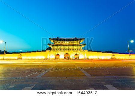Gyeongbokgung Gate Centered Twilight Long Exposure