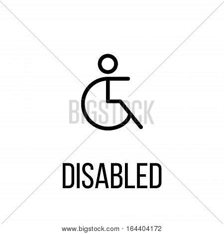 Disabled icon or logo in modern line style. High quality black outline pictogram for web site design and mobile apps. Vector illustration on a white background.