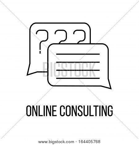 Online consulting or logo line art style. Vector Illustration.