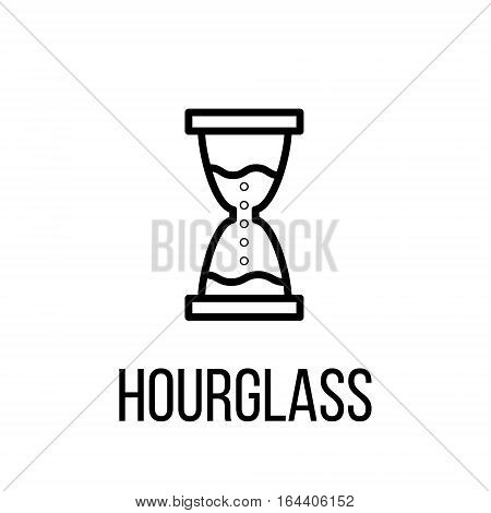 Hourglass icon or logo in modern line style. High quality black outline pictogram for web site design and mobile apps. Vector illustration on a white background.