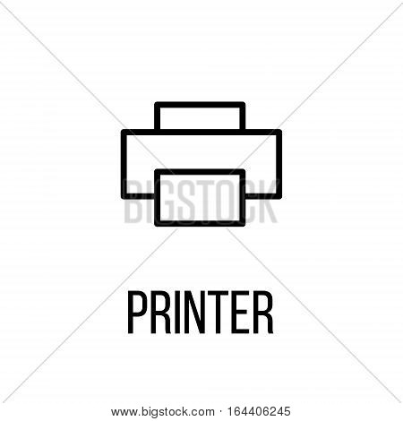 Printer icon or logo in modern line style. High quality black outline pictogram for web site design and mobile apps. Vector illustration on a white background.