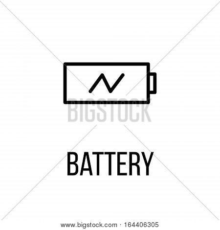 Battery icon or logo in modern line style. High quality black outline pictogram for web site design and mobile apps. Vector illustration on a white background.