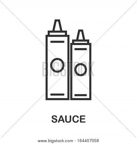 Sauce icon or logo line art style. Vector Illustration.
