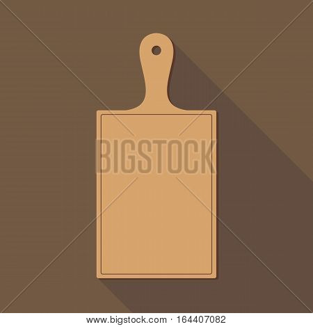 Wooden Chopping Board. Flat style vector illustration