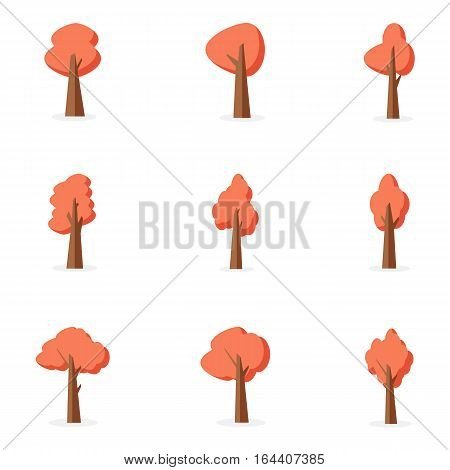 Orange tree set collection stock vector art