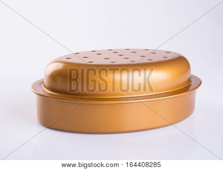 Tray Or Baking Tray On A Background.