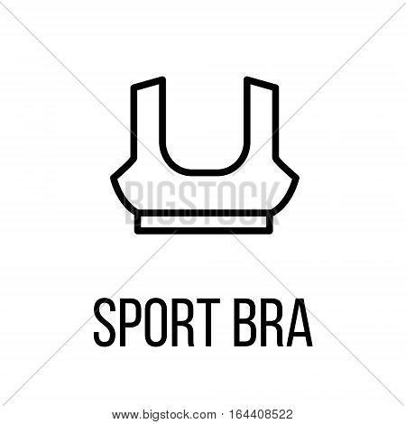Sport bra icon or logo in modern line style. High quality black outline pictogram for web site design and mobile apps. Vector illustration on a white background.