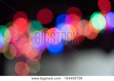 Abstract collor bokeh light on night background