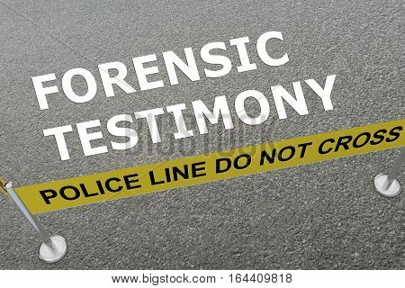 Forensic Testimony Concept