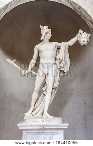 Statue Of Perseus With Medusa's Head At The Vatican Museums