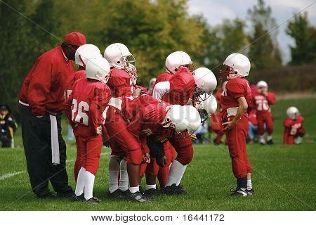 Quarterback calling the play