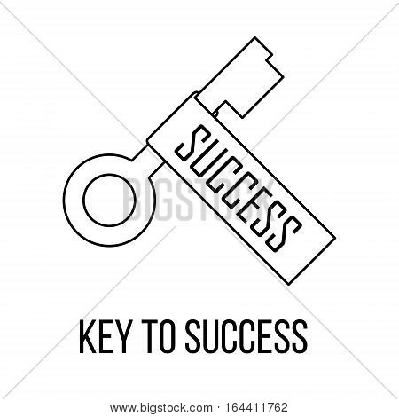 Key to success icon or logo line art style. Vector Illustration.