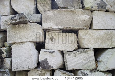 Concrete stones close paid. Textural background image