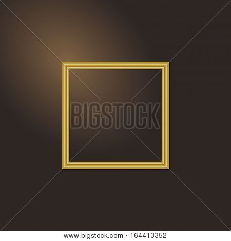 Frame for picture on gradient background, stock vector