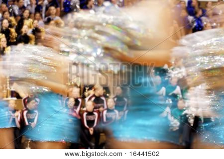 Motion blur of a Pom-pon competition