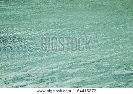 Blurred Beautiful water surface Swimmimg Pool Turquoise Water