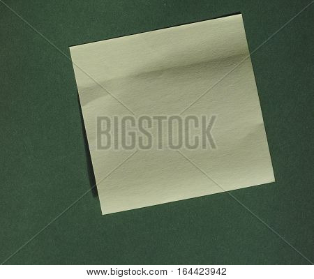 Postit Over Green With Copy Space