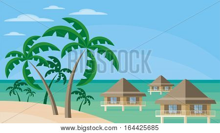 Bungalows On The Water.eps
