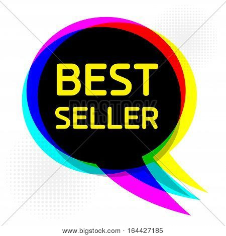 Speech Bubble in Pop-Art Style business concept with text Best Seller vector illustration