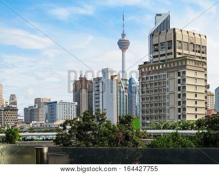 KUALA LUMPUR, MALAYSIA - JANUARY 14, 2014: Cityscape of the Kuala Lumpur, Malaysia