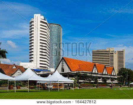 KUALA LUMPUR, MALAYSIA - JANUARY 14, 2014: Cityscape of the Kuala Lumpur, Malaysia. Old and modern buildings