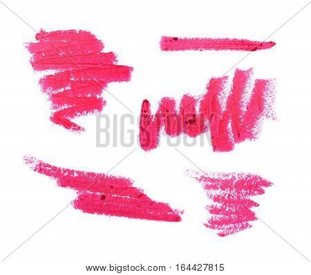 Collection Of Pink Lipstick Strokes