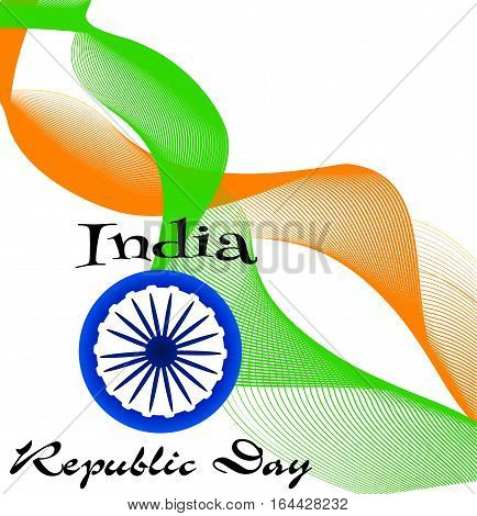 Creative Indian Independence Day concept. Beautiful Indian flag color themed illustration for republic day india, illustration for 26 january.
