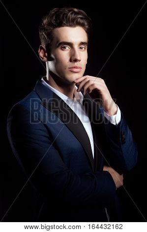 Fashion Man In Business Suit