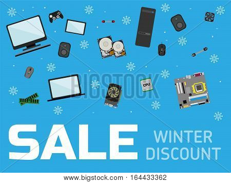 Banner For Computer Store. Sale Banner