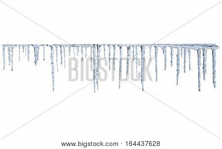 perfect icicles natural and with clipping path for easy copy