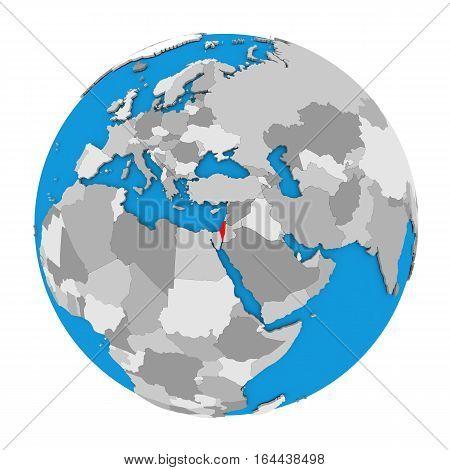 Israel On Globe