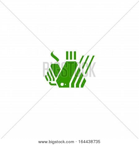 Factory logo or icon isolated on a white backgorund.