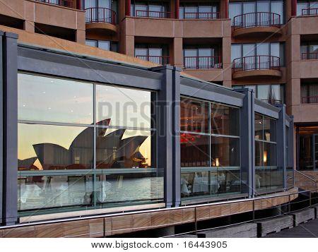 Park Hyatt Hotel Sydney - with reflection of Sydney Opera House
