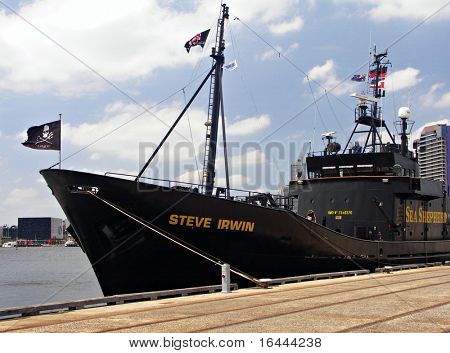 Sea Shepherd Anti-Whaling Ship - renamed after Steve Irwin