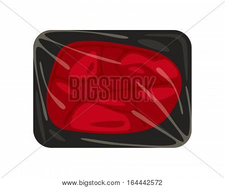 Stock Vector Illustration Beefsteak